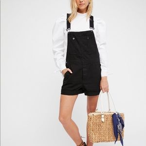 Free People Relaxed Boyfriend Shortall Overalls